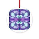 'Virtual Violets' Round Keepsake Ornament
