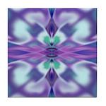 'Virtual Violets' Tile Coaster