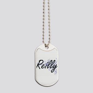Reilly surname artistic design with Flowe Dog Tags