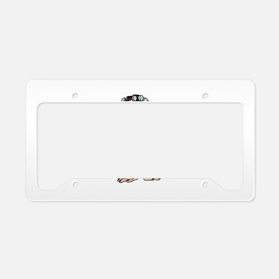 Lady Monkey in Curlers License Plate Holder