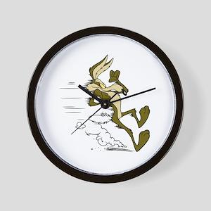 Fast Road Runner fox Wall Clock