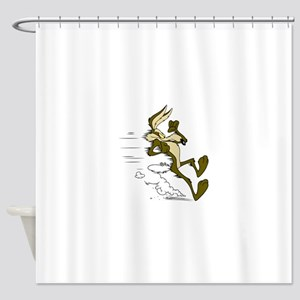 Fast Road Runner fox Shower Curtain