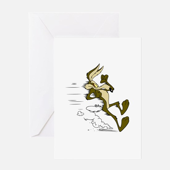 Fast Road Runner fox Greeting Cards