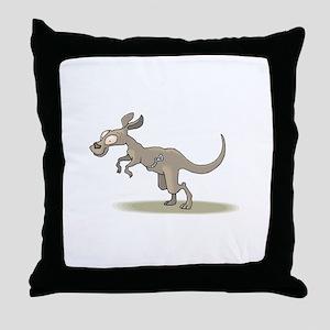 Kangaroo Zipper Pouch Throw Pillow