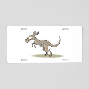Kangaroo Zipper Pouch Aluminum License Plate