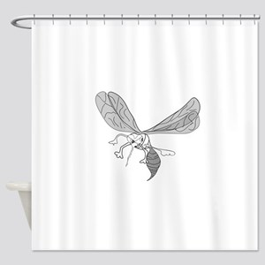 FREEHAND MOSQUITO Shower Curtain