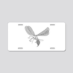 FREEHAND MOSQUITO Aluminum License Plate