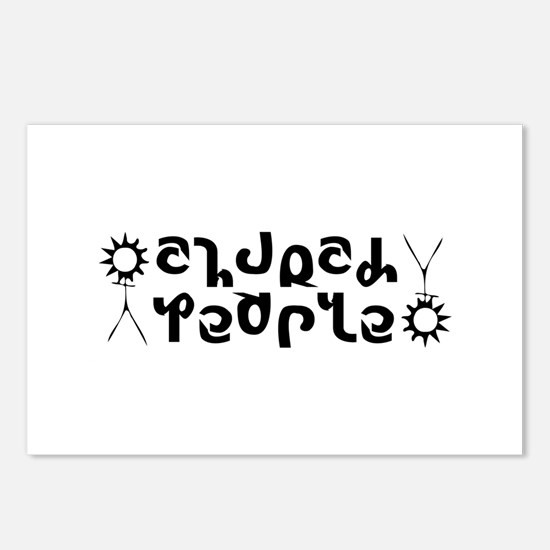 Church People Ambigram Postcards (Package of 8)