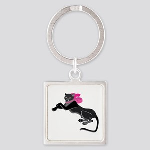 Panther Wearing Bow Keychains