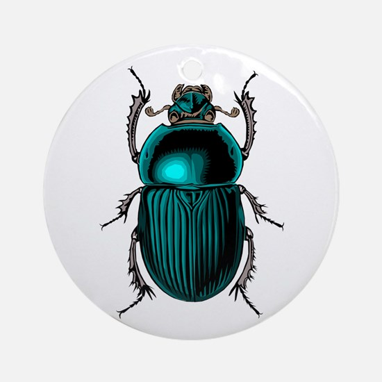 Beetle Bug Round Ornament