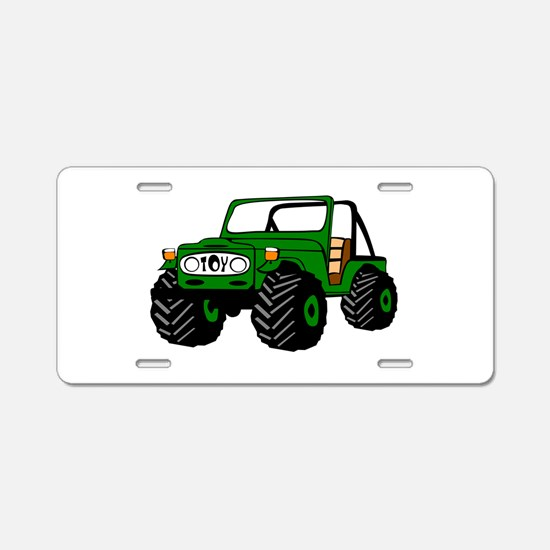 Toyota land cruiser Aluminum License Plate