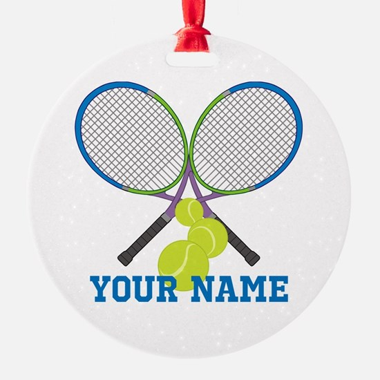 Personalized Tennis Player Ornament