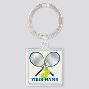 Personalized Tennis Player Keychains
