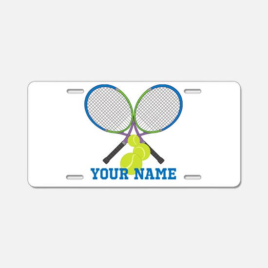 Personalized Tennis Player Aluminum License Plate