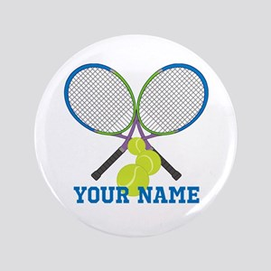 Personalized Tennis Player Button