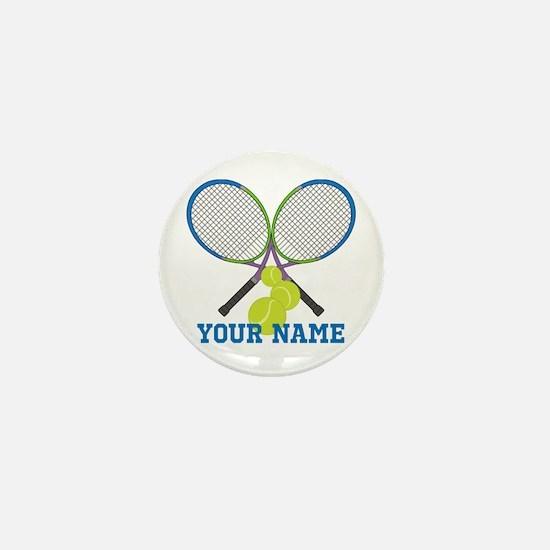 Personalized Tennis Player Mini Button