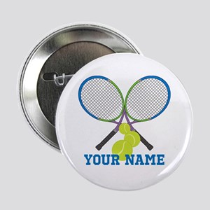 """Personalized Tennis Player 2.25"""" Button"""