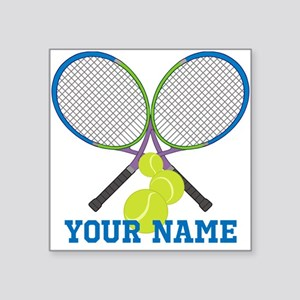 Personalized Tennis Player Sticker