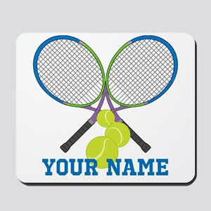 Personalized Tennis Player Mousepad