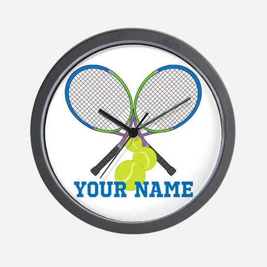 Personalized Tennis Player Wall Clock