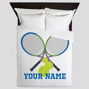 Personalized Tennis Player Queen Duvet