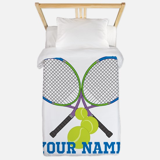 Personalized Tennis Player Twin Duvet