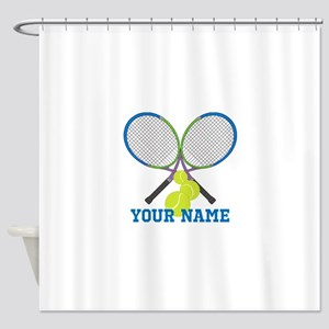 Personalized Tennis Player Shower Curtain