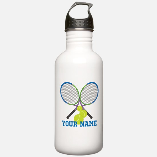 Personalized Tennis Player Water Bottle