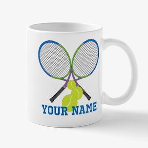 Personalized Tennis Player Mugs