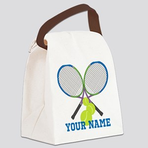 Personalized Tennis Player Canvas Lunch Bag