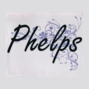 Phelps surname artistic design with Throw Blanket