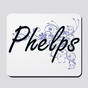 Phelps surname artistic design with Flow Mousepad