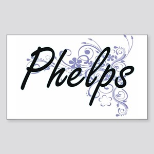 Phelps surname artistic design with Flower Sticker