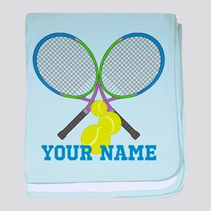 Personalized Tennis Player baby blanket