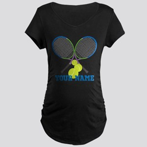 Personalized Tennis Player Maternity T-Shirt
