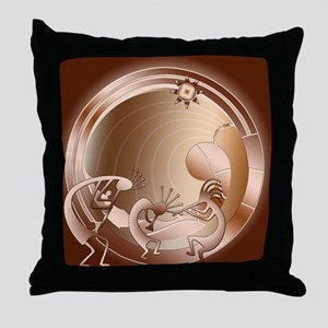 Kokopelli Universe Abstract Throw Pillow