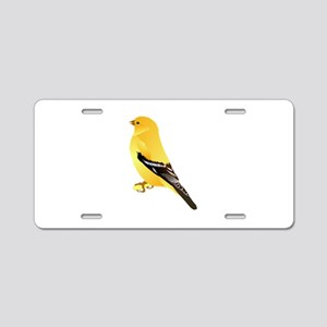 Gold finch Aluminum License Plate