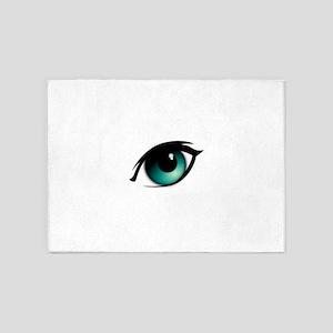 Narrow house cartoon eye remix coxa 5'x7'Area Rug