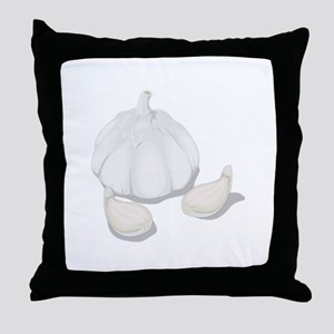 Garlic flakes Throw Pillow