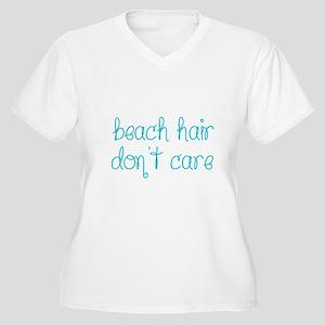 Beach Hair Don't Care Plus Size T-Shirt
