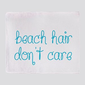 Beach Hair Don't Care Throw Blanket