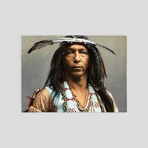 Classic Native American Brave 5'x7'Area Rug