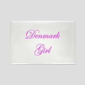 Demark Girl Rectangle Magnet