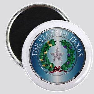 Metal Texas State Seal Magnets