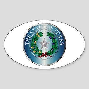 Metal Texas State Seal Sticker