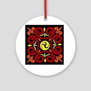 Celtic Square Round Ornament
