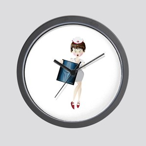 Nurse with x-ray Wall Clock