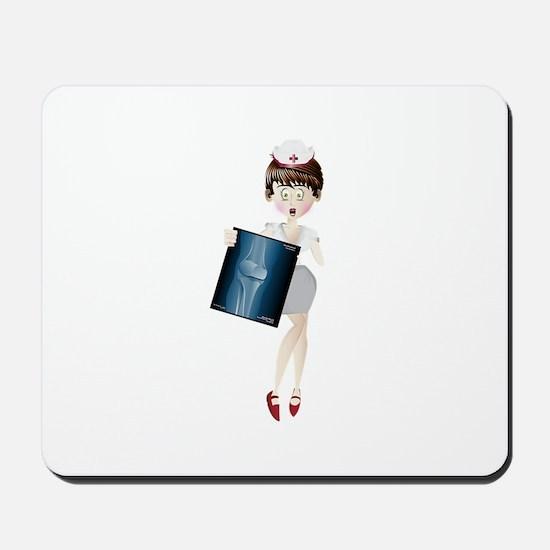 Nurse with x-ray Mousepad