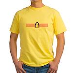 Pink Ribbon Penguin Yellow T-Shirt
