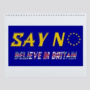 So No To Europe! Wall Calendar